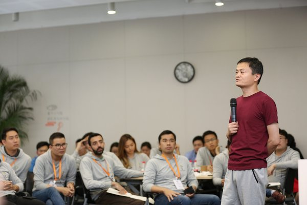 Alibaba Group Executive Chairman Jack Ma in dialogue with eFounders participants on entrepreneurship and more