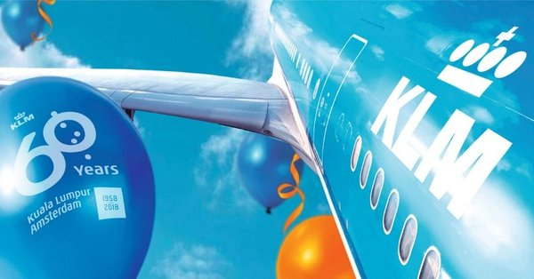 KLM Royal Dutch Airlines is celebrating its 60th anniversary of direct scheduled flights between Amsterdam and Kuala Lumpur