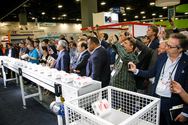 On the show floor of Tissue World Miami 2018