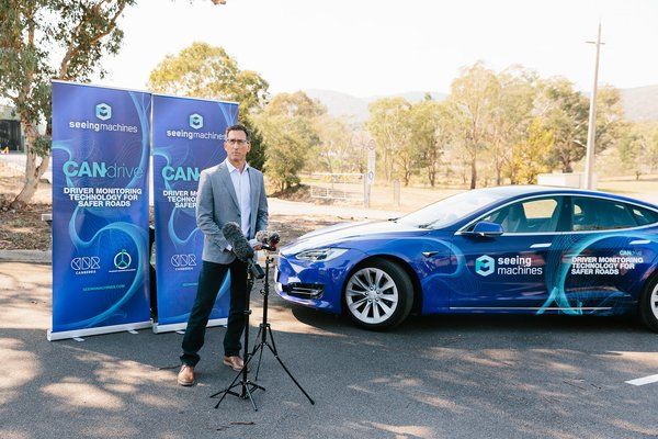 Ken Kroeger, Chairman & CEO of Seeing Machines, launches Phase 1 of CAN Drive in Canberra