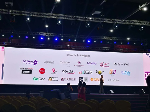 Rewards & Privileges Exhibition on HUAWEI P20 Conference