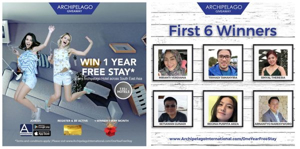 "Archipelago International Announces the First Six Winners of the ""One Year Free Stay"" Giveaway"