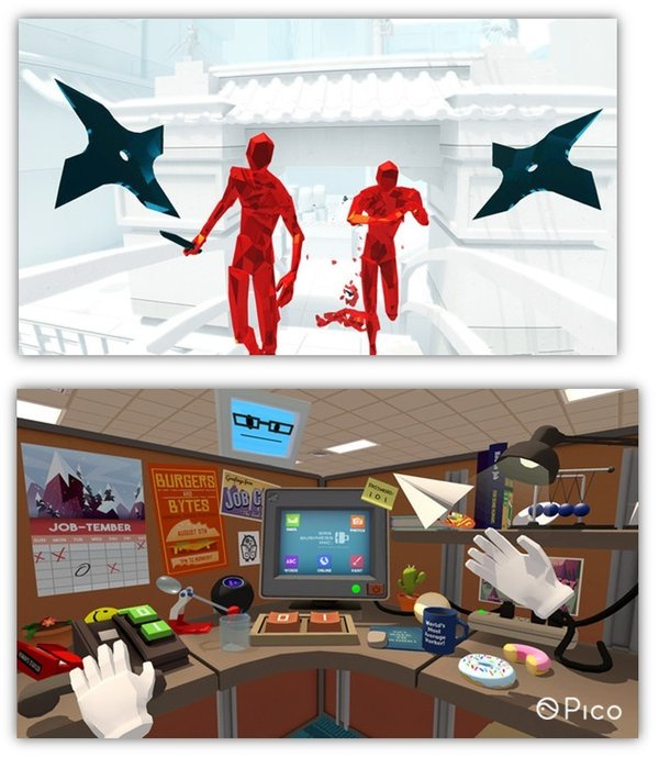 PSVR游戏《Job Simulator》和《Superhot VR》