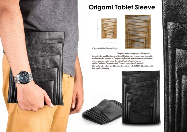 Origami Tablet Sleeve:Mohamed Khudrathulla,印度