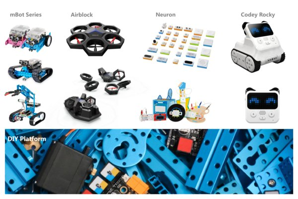 Makeblock owns the most complete product lines