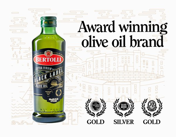 Bertolli. Awarded olive oil brand