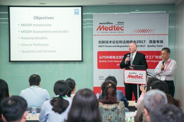 FDA Assistant Country Director of China William M. Sutton is speaking at a meeting