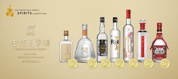 Kinmen Kaoliang Liquor wins top honor at San Francisco World Spirits Competition 2018