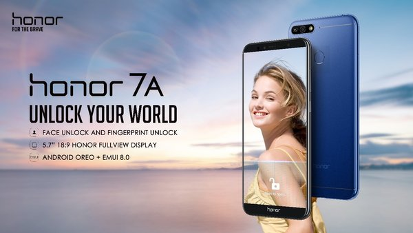 Honor 7A, Unlock Your World