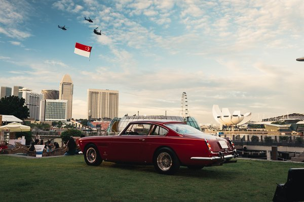 Fullerton Concours d'Elegance coincided with the first of Singapore's National Day previews