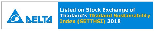 Delta included in the SET's first Thailand Sustainability Index for outstanding sustainability performance