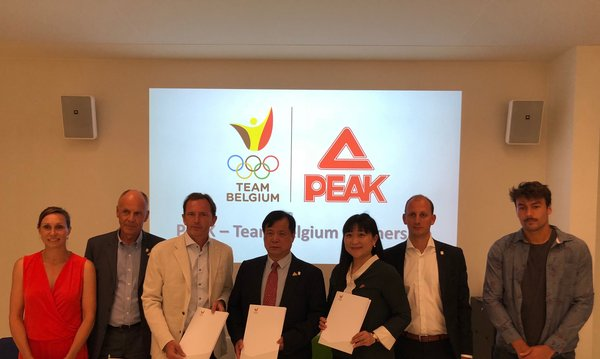Peak sport and the Belgian Olympic committee signed an agreement on strategic cooperation in Brussels.