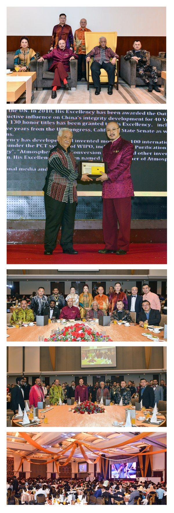 P1-5:Father of Atmospheric Water Generation Dato' Sri Ng Tat-Yung attended Royal Charity Dinner in Malaysia and received Highest Honorary Commendation