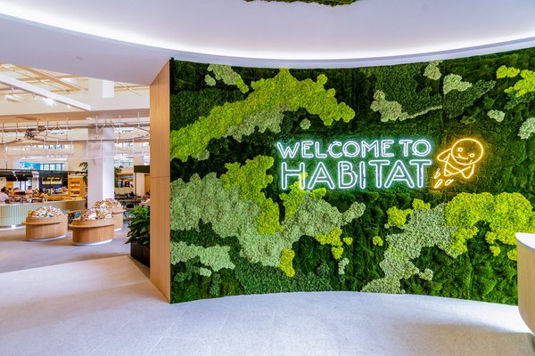 Entrance to habitat by honestbee: world's first 'NewGen Retail' concept where technology meets experiences through food