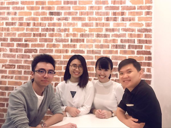 Go-MaD.AI Team: (From left to right) Chenyi Ang (Founder & CEO), Huay Ling (Content Specialist), WenWen Chua (Co-founder), Dr. Chan Yoong Fee (Advisor)