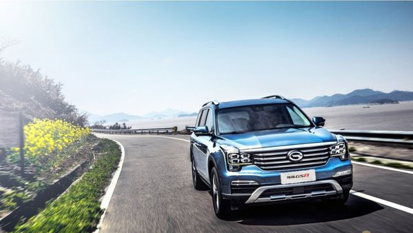 GAC Motor's GS8 tops the quality ranking in the large SUV market segment