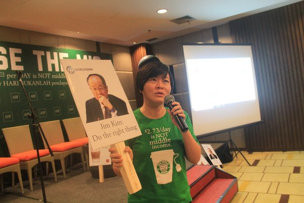 Marie Ko delivered a campaign about Raise the MIC during a press conference in Nusa Dua, Bali, Indonesia.