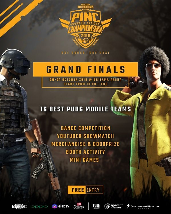 The Grand Final PUBG Mobile Indonesia National Championship (PINC) 2018