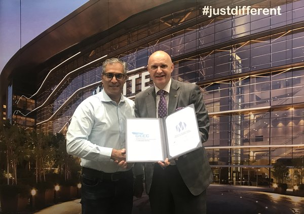 Exciting times ahead for business events: (L-R) Joey Pather, CEO of GICEC and Gunther Beissel, CEO of MITEC showcasing the signed MoU.