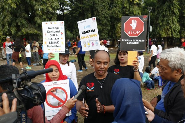 KOPMAS Declaration to oversee government policies related to public health at Monas, Sunday (10/28).