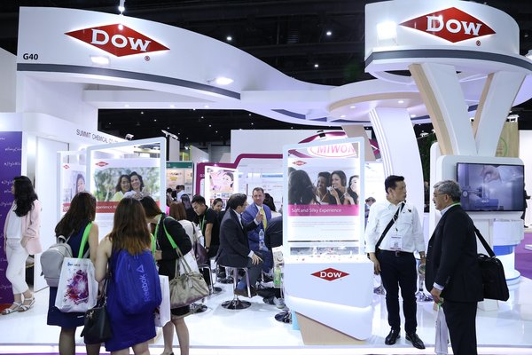 Dow's booth at in-cosmetics Asia