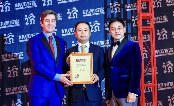 Mr. Wang Tao Awarded 'China Industry Leader of the Year' by Hurun Report