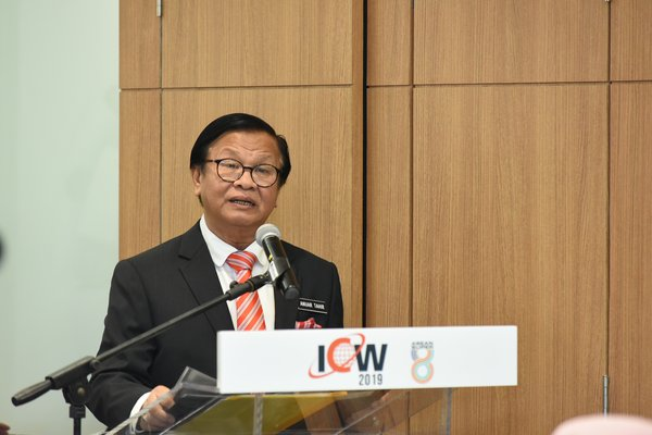 YB Tuan Haji Anuar Mohd Tahir, Deputy Minister of Works delivered his remarks the ICW and ASEAN Super 8 press conference
