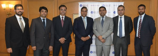 NEEV fund India and Blue Planet Environmental Solutions (from left to right): Ashwin Suresh (SBICapitalMarketsLtd.), Jai Shah (SBI Capital Markets Ltd.), Akshay Panth (SBI Capital Markets Ltd.), Manav Bansal (SBI Capital Markets Ltd.), Prashant Singh (founder and CEO, Blue Planet Environmental Solution India Pvt. Ltd.), Madhujeet Chimni (founder and chairman, Blue Planet Environmental Solution India Pvt. Ltd.), and Bharadwaj Chivukula (founder, Blue Planet Environmental Solution India Pvt.).