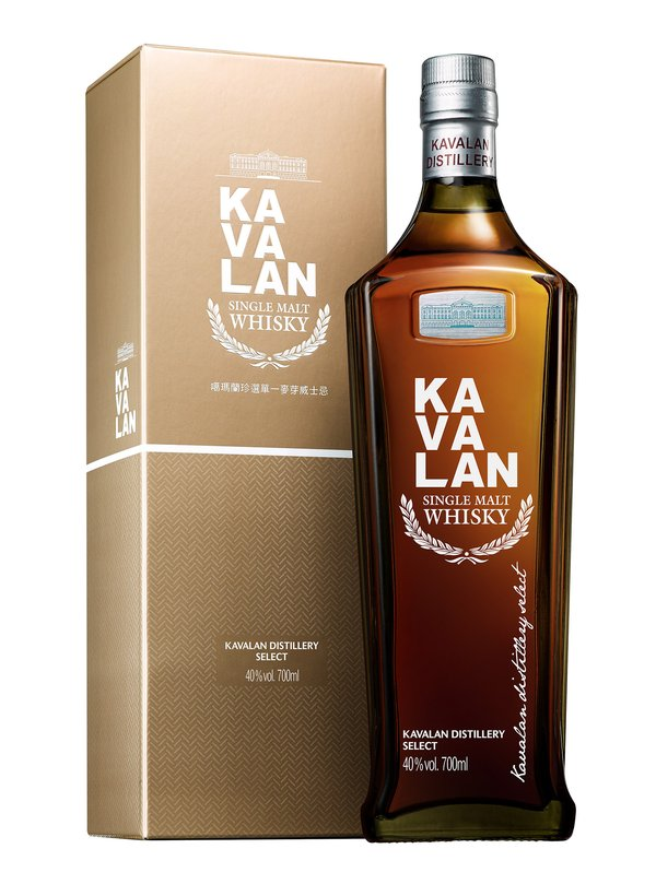 Kavalan's latest release, Distillery Select, sold in the bottle with a silhouette inspired by the shape of Taiwan's tallest skyscraper the Taipei 101