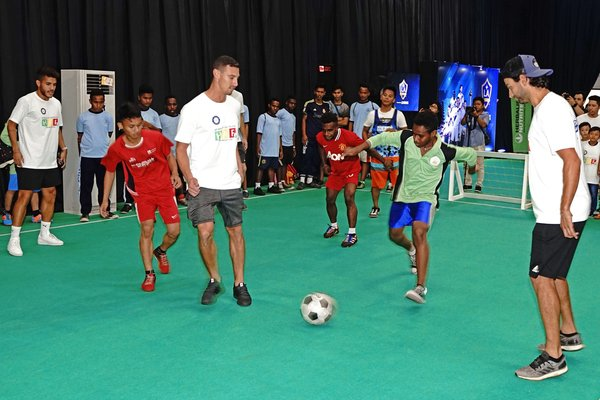 LA Galaxy players visited Herbalife Nutrition Foundation's Casa Herbalife partners in Indonesia to engage in casual futsal games with underprivileged children.