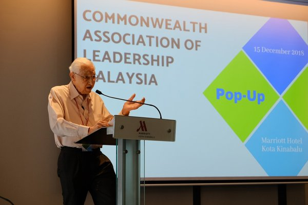 Dr Ronald McCoy addressing the Commonwealth Association of Leadership, Malaysia