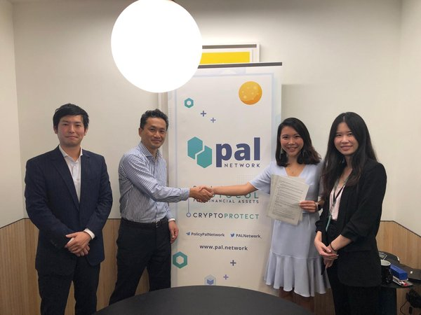 From Left: Mr Kengo Kobata, Senior Associate of Toyota Tsusho, Mr Hayashi Toshinori, Executive Vice President of Toyota Tsusho, Ms Val Ji-Hsuan Yap, CEO & Founder of PAL Network and Ms Claire Toh, Business Development Lead of PAL Network at the successful MoU signing on 17 December 2018.