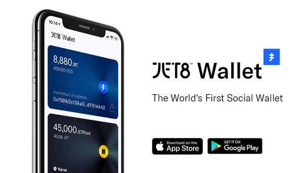 The new JET8 Wallet connects users around the world to social community apps that allow them to earn from their social media content, and gives them access to JET8's vast liquidity network.