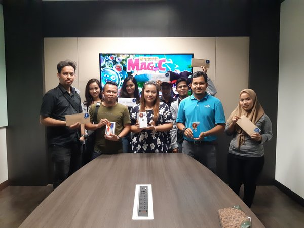 Gamelord awards Mobile Game 'Monster Magic' Winners with RM10,000 worth of prizes.