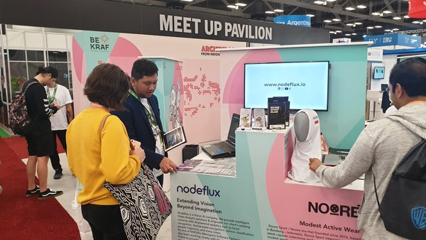 Nodeflux booth at the SWSX, Texas, United States, March 11, 2019