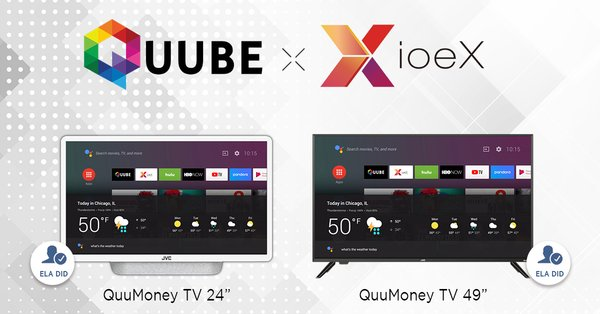 "Taiwanese Startup ioeX Partners with ThinkSmart Sub Brand ""QUUBE"" to Develop World's First Blockchain TV (QuuMoney TV) with Decentralized Applications"