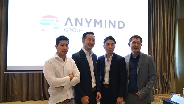 Left to Right- Pirath Yensudjal, Executive Vice President of TV Thunder, Siwat Vilassakdanont, Managing Director of CastingAsia Creators Network, Kosuke Sogo, CEO and co-founder of AnyMind Group, Punsak Limvatanayingyong, Founder of Moindy