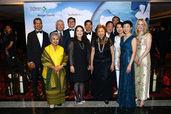 The Nature Conservancy's Asia Pacific Council (front row, left to right): Ms Shanti Poesposoetjipto, Ms Julia S. Gouw, Ms Shirley Young, Ms Anla Cheng, Ms Kathy Matsui, Ms Nancy Bowen (back row, left to right): Mr George Tahija, Mr Robert McLean, Mr Nicolas Aguzin, Mr Dr. Fred Zuliu Hu, Mr Moses K. Tsang, Mr Frank Wei