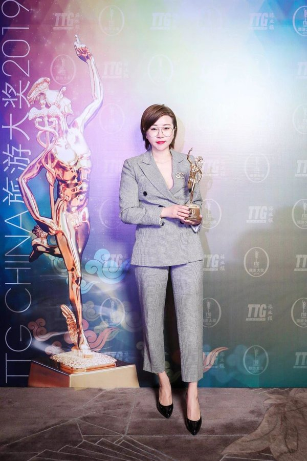 Heidi Tang, Director of Sales and Marketing attends the award ceremony