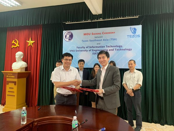 MoU Signing Ceremony between Tezos Southeast Asia and Faculty of Information Technology, VNU University of Engineering and Technology