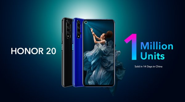 HONOR 20 sales in China surpass one million units in a mere 14 days