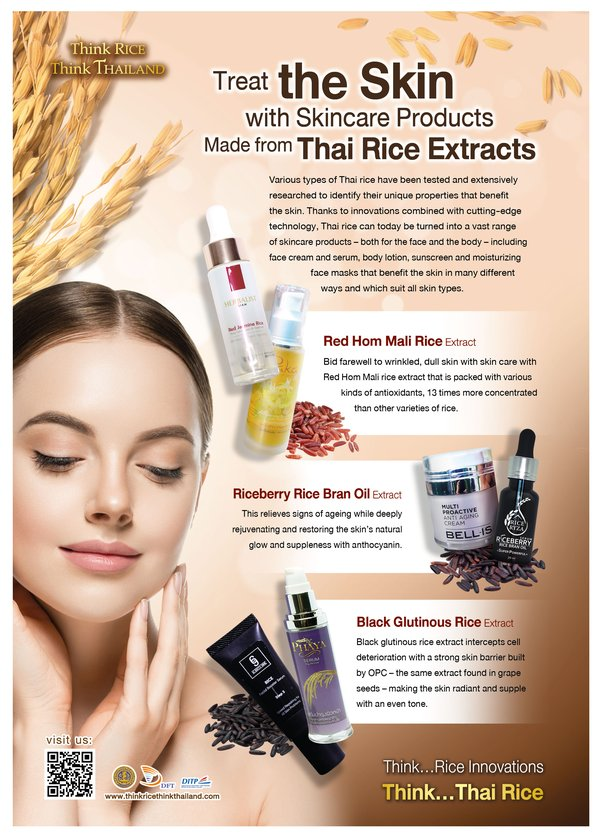 Thailand Presents Skincare Products Made from Thai Rice Extracts