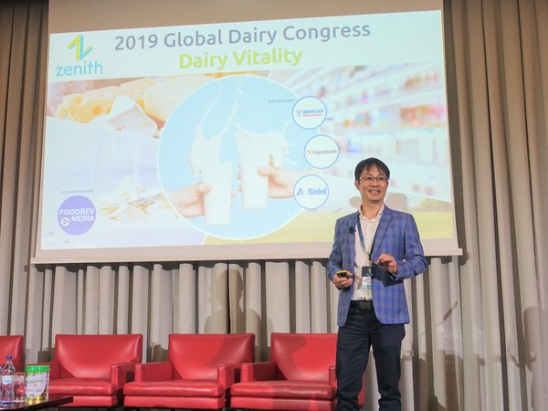 Mr Phan Minh Tien, Executive Director of Vinamilk, presents at the 2019 Global Dairy Congress