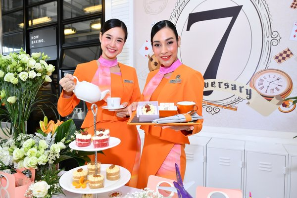 THAI Smile celebrates the 7th anniversary by offering a tea party in 'Smile in Wonderland' theme for all passengers in all flights during 7-13 July 2019