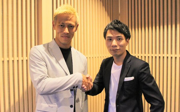 Left to right- Keisuke Honda, founder, KSK Group, and Kosuke Sogo, CEO and co-founder, AnyMind Group