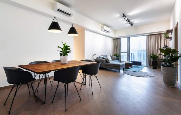 Communal area in co-living apartment Hmlet Cullinan West, Hong Kong