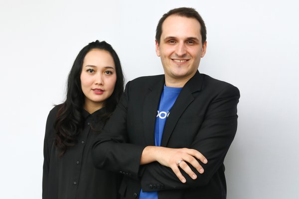 Suci Arumsari (Co-founder & Director Alodokter) & Nathanael Faibis (Co-founder & CEO Alodokter)
