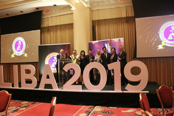 The Winners of the LIBA 2019 on stage