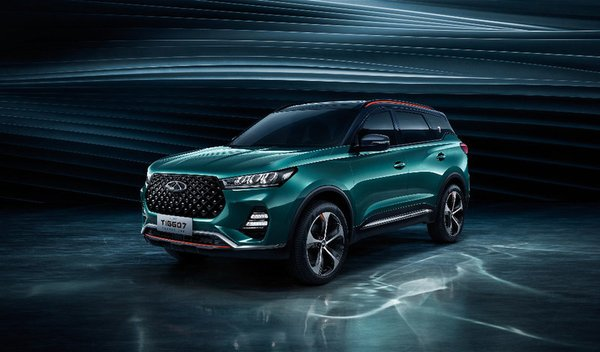 Debut of Chery's new concept SUV, Tiggo 7, at the 17th Guangzhou International Automobile Exhibition.