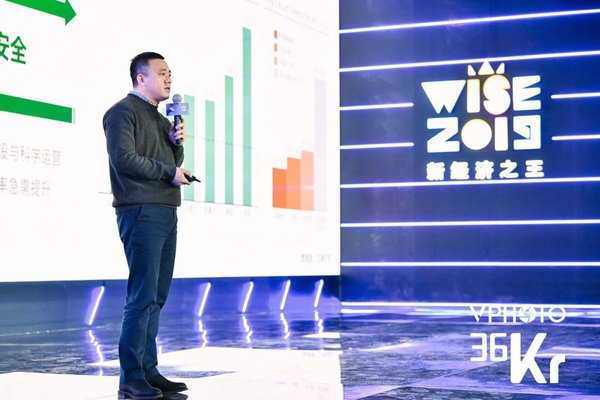 Zhang Bing, Jiuye SCM's founder and CEO, delivered a speech at WISE 2019 hosted by 36kr